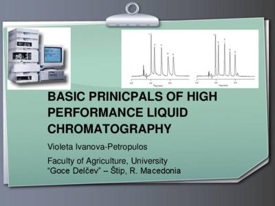 Basic Prinicipal Of High Performance Liquid Chromatography Ugd