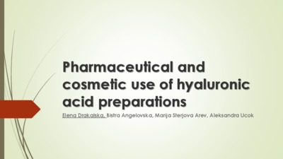 Pharmaceutical and cosmetic use of hyaluronic acid