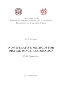 Image restoration phd thesis